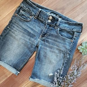 AEO Distressed Denim Shorts